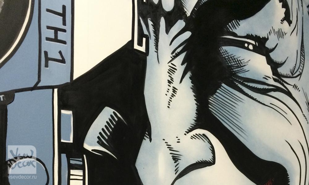 бэтмен, vsevdecor, роспись стен детская, роспись на стенах, граффити, роспись в интерьере, роспись стен, фреска, фрески, vsevdecor, санкт-петербург, москва, человек паук, джокер, комикс, комиксы, роспись стен комиксы, vsevdecor