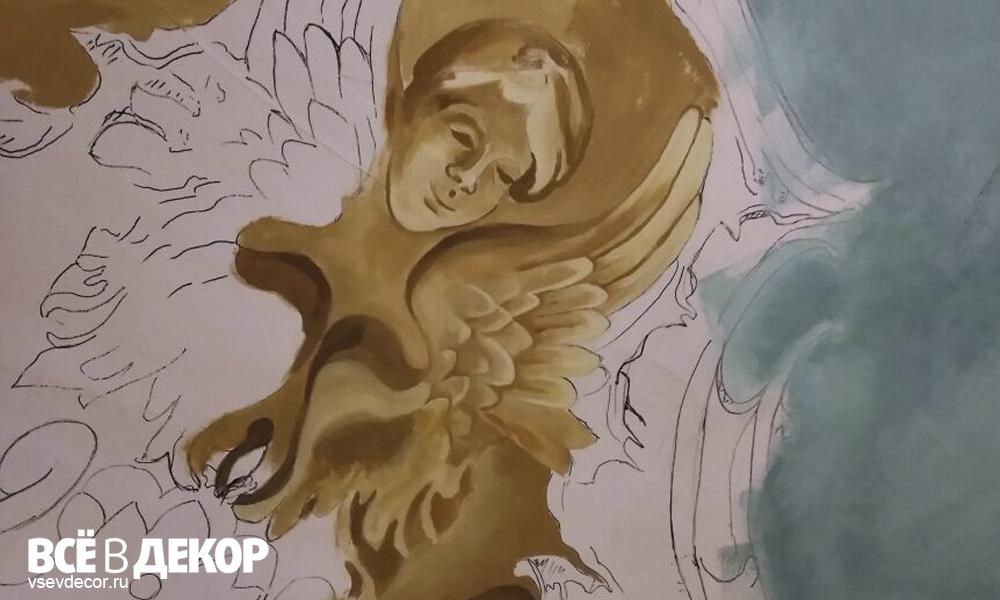 кафе venezia, кафе венеция невский 107, потолок кафе венеция, роспись потолка в кафе венеция, фреска потолок кафе венеция, состаренная фреска, боттичелли, весна боттичелли репродукция, фреска фото, фреска старинная технология, старинная фреска на потолке, роспись потолка кафе, венеция кафе, aerografiya-da-vinchi, rospis-sten, роспись стен в кафе, да винчи граффити, граффити на стене, граффити на заказ, леонардо да винчи на стене, фреска на потолке, Санкт-Петербург, Москва, vsevdecor, всевдекор, все в декор