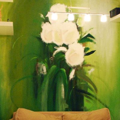 роспись стены цветы, розы маслом, rospis-sten, брендирование, deti-grafika, граффити, граффити на стене, граффити на заказ, трафарет на стене, паттерн на стене, Санкт-Петербург, Москва, vsevdecor, всевдекор, цветы в интерьере, розы на стене, розы граффити