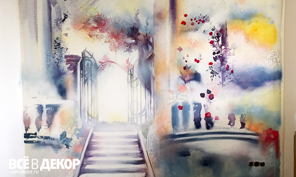розы на стене, розы рисунок на стене, розы граффити, розы акварель на стене, розы акварель, роспись стен акварель, роспись стены акварель, акварельная техника на стене, роспись стены цветы, rospis-sten, граффити, граффити на стене, граффити на заказ, Санкт-Петербург, Москва, vsevdecor, всевдекор, роспись стен в гостиной, роспись стен петергоф, фреска петергоф, петергоф рисунок на стене, рисунок на стене акварель