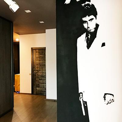 лицо со шрамом, аль пачино, граффити тони монтана, роспись стен, все в декор, vsevdecor, Свитящук