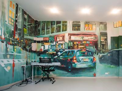 роспись стен нью-йорк, роспись на стенах, граффити, роспись в интерьере, роспись стен, фреска, фрески, vsevdecor, санкт-петербург, москва