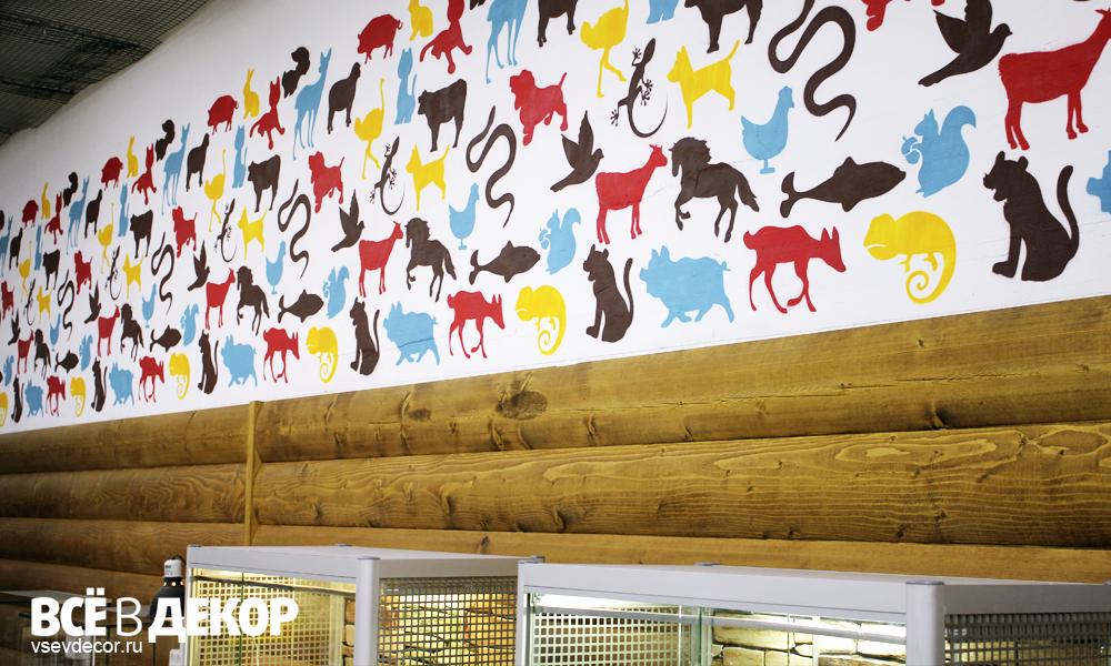 трогательный зоопарк, граффити в зоопарке, паттерн животные, роспись стен зоопарк, rospis-sten, брендирование, дизайн интерьера, граффити, граффити на стене, граффити на заказ, трафарет на стене, паттерн на стене, Санкт-Петербург, Москва, vsevdecor, всевдекор, орнамент на стене, все в декор