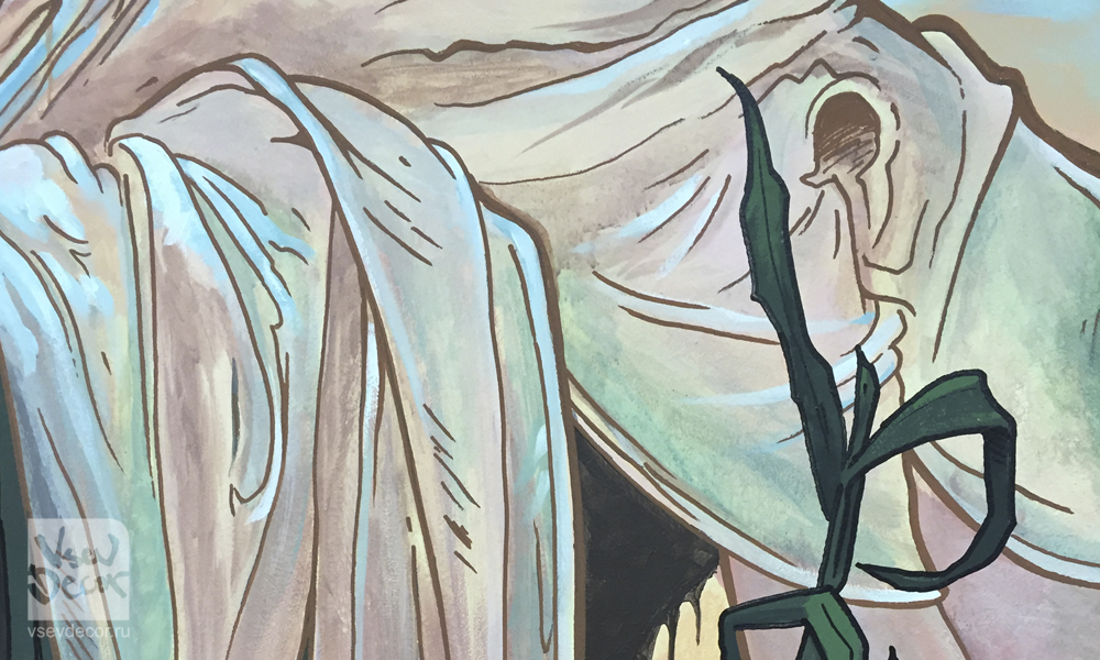 vsevdecor, роспись стен хостел, роспись на стенах, граффити, роспись в интерьере, роспись стен, фреска, фрески, vsevdecor, санкт-петербург, москва, mucha, муха, альфонс муха, vsevdecor