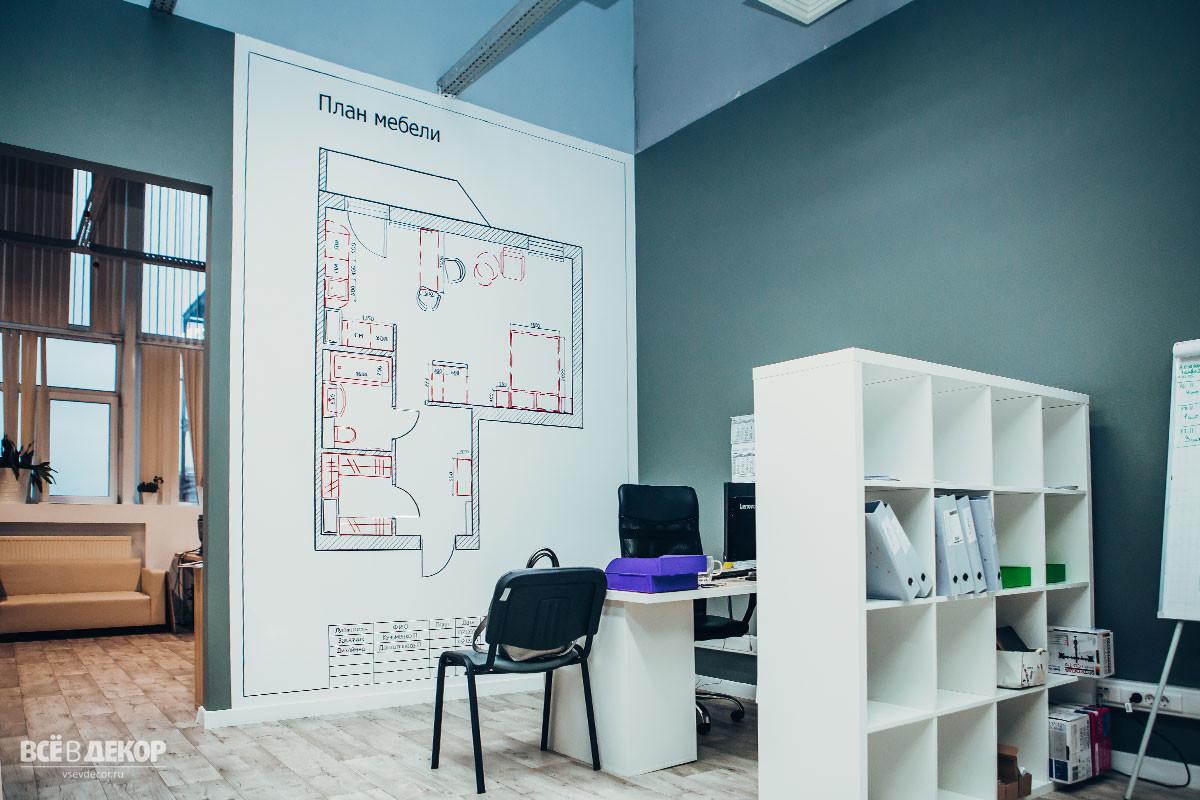 дизайн интерьера офиса под ключ спб, роспись стен, отделка интерьера офиса, современный ремонт в офисе спб, всёвдекор, vsevdecor