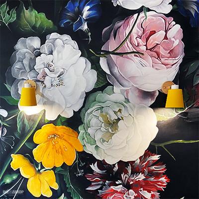 рисунки на стенах цветы, цветы на стене роспись стен, роспись стен цветы, пионы роспись стен, граффити пионы, цветы на стену рисунок