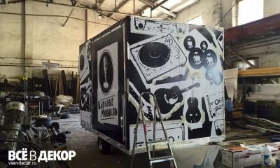 граффити прицеп, граффити, контейнер, граффити на прицепе, роспись автомобильного прицепа, брендинг прицепа, брендирование прицепа, караокемобиль, караоке мобиль, Роспись стен, брендирование, фреш-кафе имбирь, граффити на стене, граффити на заказ, трафарет на стене, паттерн на стене, Санкт-Петербург, Москва, vsevdecor, всевдекор, все в декор