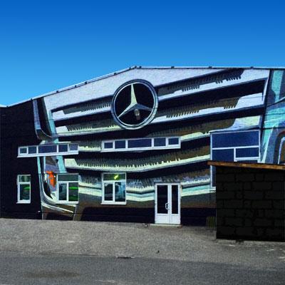 Роспись фасада, роспись стен, граффити на заказ, Москва, Санкт-Петербург