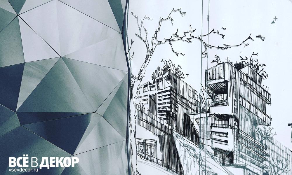 юсупов архитектурное бюро, aerografiya-grafika-arhitectura, rospis-sten, брендирование, arhitektura-grafika, граффити, граффити на стене, граффити на заказ, архитектура на стене, графика на стене, Санкт-Петербург, Москва, vsevdecor, всевдекор, rospis-sten-v-ofise