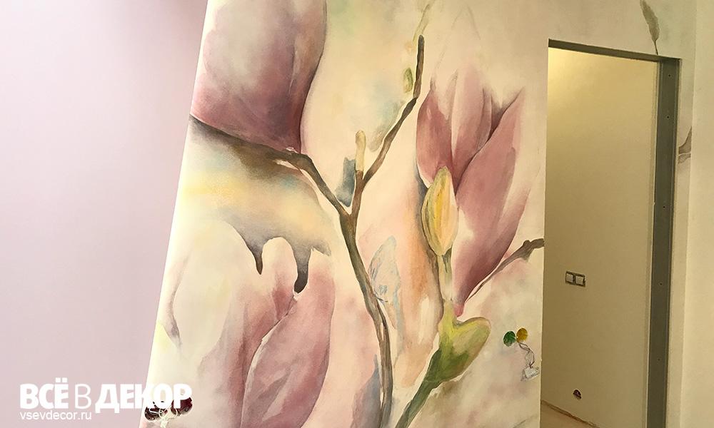 Акварельная роспись стен