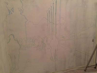 Процесс, Роспись стен, Париж, Франция, эйфелева башня, eifel tower, англия, Бигбэн, роспись на стенах, фреска, фрески на стенах, граффити на заказ, роспись в спб, спас на крови рисунок, vsevdecor, спб, санкт-Петербург, москва