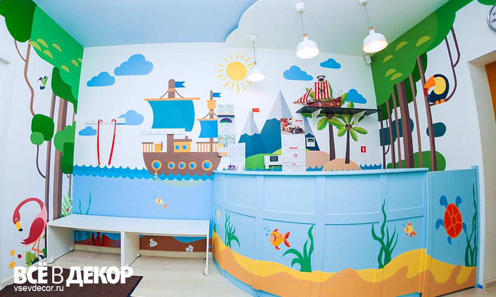 стены в детской, идеи оформления детской