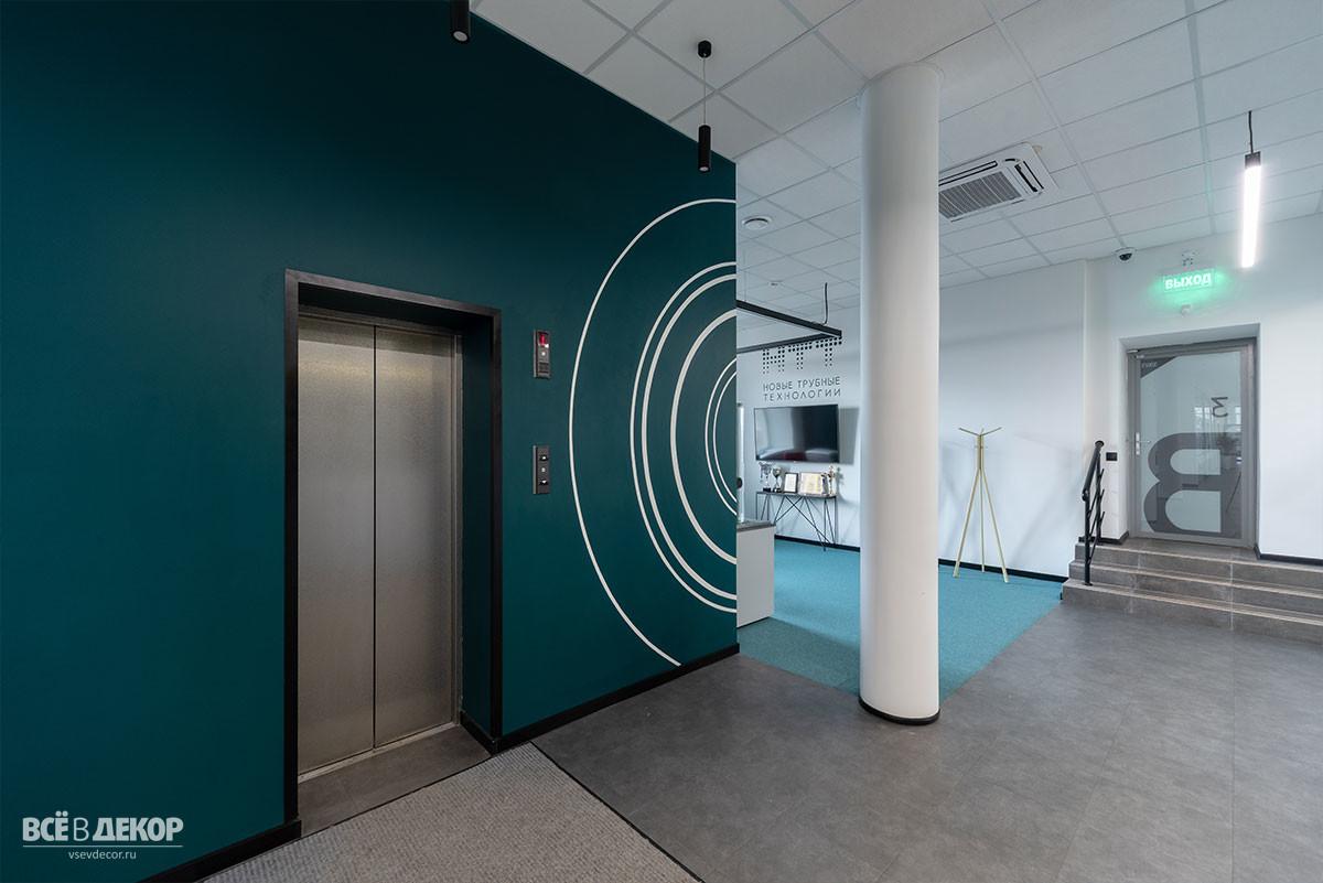 стены в офисе, роспись стен в офисе в москве